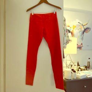 Lululemon Wunder Under Leggings Size 6, Red